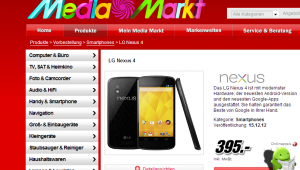 Media Markt Nexus 4