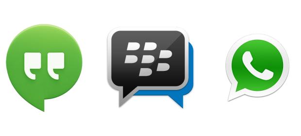 Hangouts, BBM, WhatsApp - Drei Messenger im Test