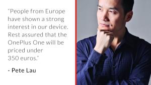 OnePlus kündigt via Google+ das OnePlus One in Europa für unter 350€ an | © OnePlus via Google+