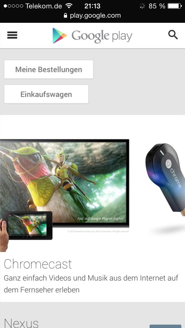 Google Play Store Geräte