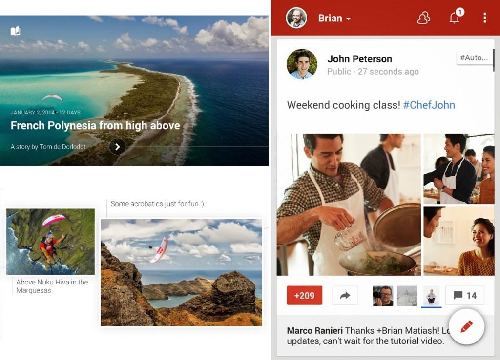 Neue Google+ UI