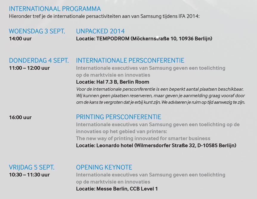 Samsungs Programm auf der IFA 2014 | © mobiFlip.de