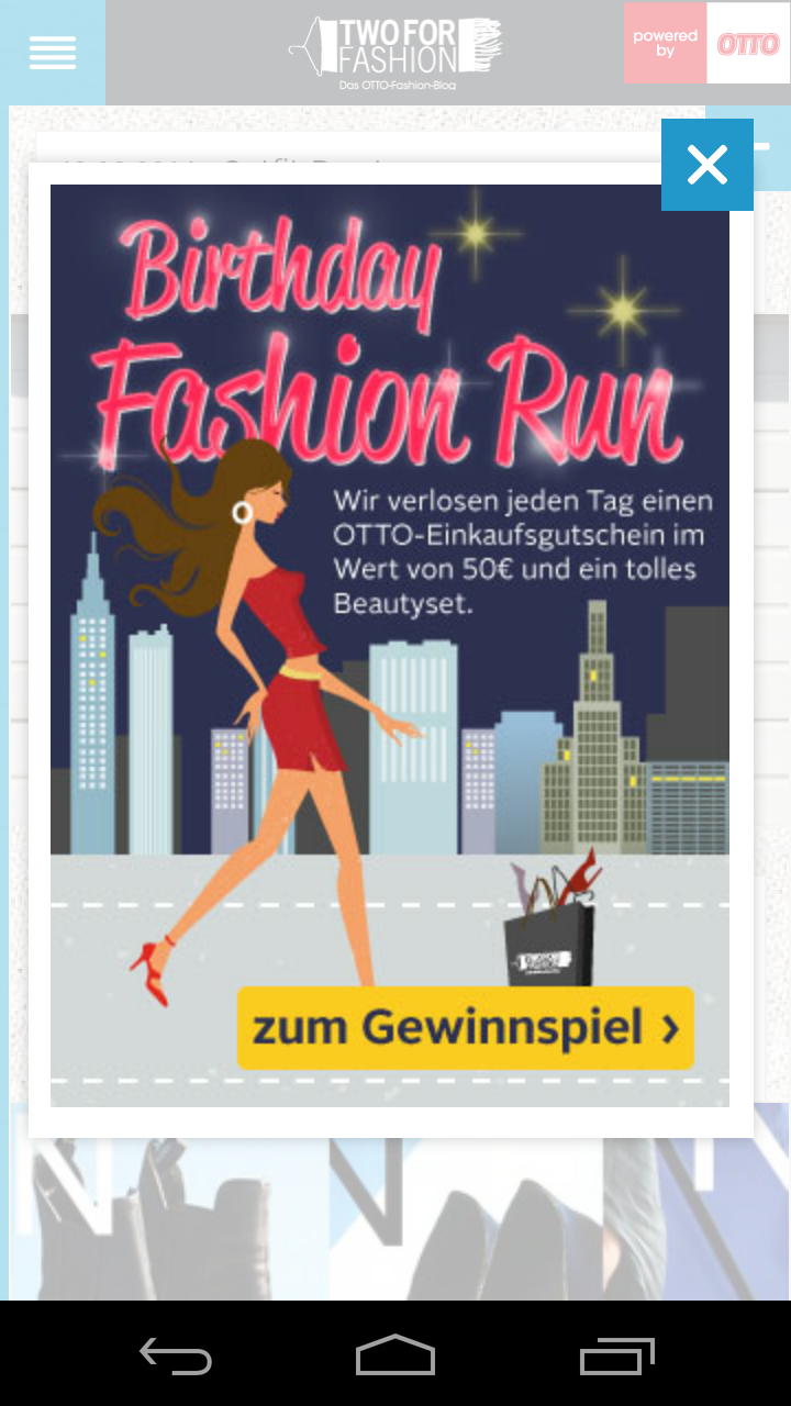 Two for Fashion App - Test